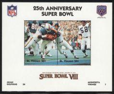 St.Vincent - 1991 Super Bowl Block (8) MNH__(FIL-10251) - St.Vincent (1979-...)