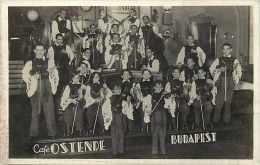 Pays Divers- Hongrie - Ref 820 -  Budapest - Le Café Ostende  - Orchestre - Thème Musique  -  Carte Bon état - - Hongrie