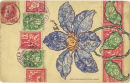 PRESENTATION De TIMBRES - CIRCULEE - 1906  (2 Scanns) - Stamps (pictures)