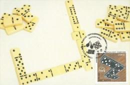CARTE MAXIMUM - MAXICARD - MAXIMUMKARTE - MAXIMUM CARD - BRÉSIL -  JEUX POPULARES - DOMINÓ - OBLITERATION TRIPLE - Games