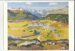 Giovanni Giacometti Vista Su Maloggia Con Albergo Palace Maloja Svizzera Suisse - GR Grisons