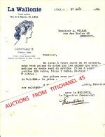 Lettre De 1930 LIEGE - LA WALLONIE 53 Rue De La Régence - Journal Quotidien - Ohne Zuordnung