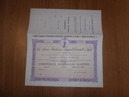 SCRIPOFILIA CERTIFICATO AZIONARIO SOCIETà ANONIMA ITALIANA AUGUSTO GRAWITZ BIELLA 1932 - Azioni & Titoli