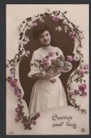 DF / FANTAISIES / FEMMES / CUEILLIES POUR VOUS / CIRCULEE EN 1907 - Femmes