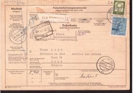 Auslandspaketkarte Von 1962 Nach Belgien - Lettres & Documents