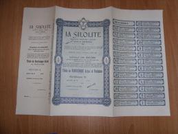 SCRIPOFILIA CERTIFICATO AZIONARIO SOCIETà ANONIMA LIGURE LA SILOLITE GENOVA 1907 - Azioni & Titoli