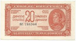 Yugoslavia 20 Dinara 1944  AUNC  P-51 - Yougoslavie