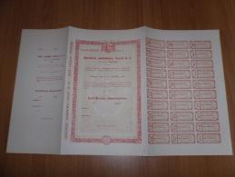 SCRIPOFILIA CERTIFICATO AZIONARIO SOCIETà ANONIMA VALLE & C.TORINO 1935 - Azioni & Titoli
