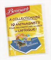 MAGNET CROCODILE D´AFRIQUE SAVANE BROSSARD  ( COTE D'IVOIRE - GUINEE - ETC....) - Animaux & Faune