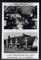 RB 943 - Real Photo Advertising Card - The Crooked Billet - Kingswood Nr Aylesbury - Buckinghamshire - Advertising