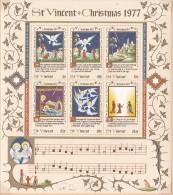 St.Vincent 1977 Christmas MS MNH - St.Vincent (1979-...)