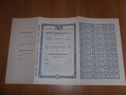 SCRIPOFILIA CERTIFICATO AZIONARIO SOCIETà  ANONIMA VALLE & C.TORINO 1933 - Azioni & Titoli