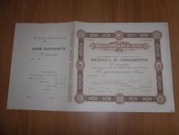 SCRIPOFILIA CERTIFICATO AZIONARIO SOCIETà  ANONIMA COOPERATIVA BANCA POPOLARE DI INTRA 1908 - Azioni & Titoli