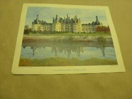 Année 1954  Grande Photographie En Couleurs (27cm X 21cm)  Château De CHAMBORD - Lieux