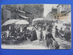 CPA Nice (06) - Le Marché Aux Fleurs(tachée, En L'état) - Markets, Festivals