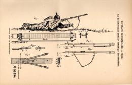Original Patentschrift - R. Bornmüller In Suhl I.Th., 1890 , Gewehrstütze , Gewehr , Reichswehr , Wehrmacht , Heer !!! - Documents
