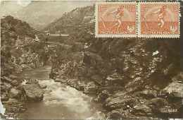 pays divers- pologne -   ref 733  -vue de rivi�re en montagne - carte marqu�e cracovie au verso -
