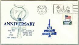 Mercury Project-10th Anniv-NASA-KSC Cachet- May 5 1971-Scarce - Briefe U. Dokumente