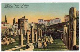 Athène, Tour Des Vents, 1916, Scan Recto-verso - Griekenland