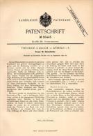 Original Patentschrift - Th. Glauch In Döbeln I.S., 1890 , Presse Für Holzschleifen , Papier , Papierfabrik !!! - Maschinen