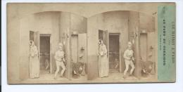 PHOTO STÉRÉO CIRCA 1860 FURNE ET TOURNIER MAISON A PARIS N°12 (PORT R2 OFFERT / FREE SHIPPING - Stereoscopio