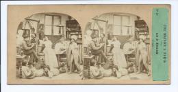 PHOTO STÉRÉO CIRCA 1860 FURNE ET TOURNIER MAISON A PARIS N°10 RAPIN PEINTRE PEINTURE (PORT R2 OFFERT / FREE SHIPPING - Stereoscopio