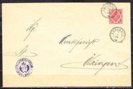 DU 7, Schultheissenamt Ernsbach, Nach Oehringen, AK-Stempel 1899 (41075) - Wurttemberg