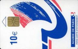 # Carte De Stationnement Pariscarte 0161A  Bateau 10 Euros - Verso 10C - Gros Info - Tres Bon Etat - - Parkkarten
