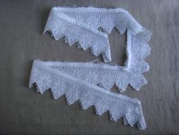 Carré D´entour En Dentelle Blanche Ancienne, 63cm X 4, Sans Raccord. Voir Photos. - Laces & Cloth