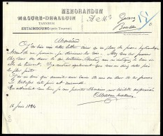 Estaimbourg - MASURE-D'HALLUIN - 1894 - Belgique