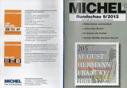 Briefmarken Rundschau MICHEL 9/2013 Neu 5€ New Stamps Of The World Catalogue Magacine Of Germany ISBN 4 194371 105009 - Tedesco