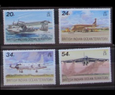 British Indian Ocean Territory 1992 Aircraft MNH - Territorio Britannico Dell'Oceano Indiano