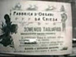 FABBRICA ORGANI CHIESA GENOVA BOLZANETO DITTA FABBRICA  DOMANICO T. ORGANO Anni 1930 EG803 - Advertising
