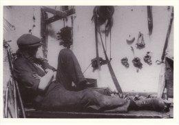 Postcard Tackler Having A Break C1911 Sleep On Job Textile Weaving Loom Repair Repro - Industry
