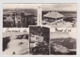 """(RECTO / VERSO) LE MONT D' OR EN 1961 - N° 5c - BEAU CACHET AU VERSO """"GRAND TELEBENNE ET CHALET RESTAURANT"""" - France"""