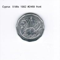 CYPRUS    5  MILS  1982  (KM # 50.2) - Cyprus