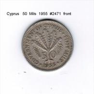 CYPRUS    50  MILS  1955  (KM # 36) - Cyprus
