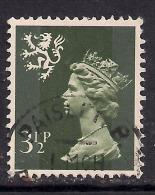 SCOTLAND GB 1974 3 1/2p Olive Grey Machin SG S17. ( M134 ) - Regional Issues