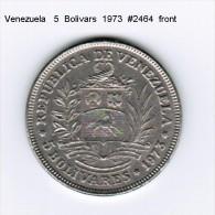 VENEZUELA    5  BOLIVARS  1973  (Y # 44) - Venezuela