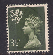 SCOTLAND GB 1974 3 1/2p Olive Grey Machin SG S17. ( M142 ) - Regional Issues