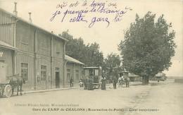 51 - Gare Du CAMP De CHALONS (Mourmelon-le-Petit) - Cour Extérieure (Lib. Militaire Guérin) - Camp De Châlons - Mourmelon