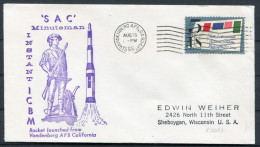 1966 USA Vandenberg SAC Minuteman ICBM Space Rocket Cover - Covers & Documents