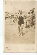 HOMBRE EN MALLA AÑO 1900  MAR DEL PLATA  ARGENTINA   OHL - Hommes