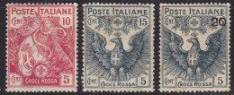 1836. Italy, 1915, MH (*) ( 3 Values) - 1900-44 Victor Emmanuel III