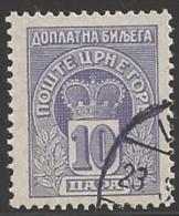 1907 10h Postage Due, Used - Montenegro
