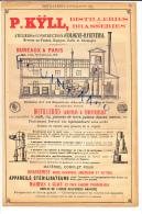 PUB De 1895 Kyll Pour L´ Installation De Distillerie Ou Brasserie COLOGNE BAYENTHAL Machines à Vapeur Corliss ( Creusot - Pubblicitari