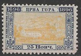 1896 25n Bicentennary, Mint Never Hinged - Montenegro