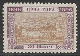 1896 30n Bicentennary, Mint Never Hinged - Montenegro
