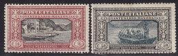 1847. Italy, 1923, MH (*) ( 2 Values) - 1900-44 Victor Emmanuel III