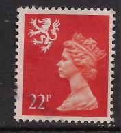SCOTLAND GB 1990 22p Bright Orange Red Machin  SG66.( M170 ) - Regional Issues